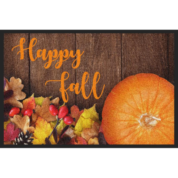 Pumpkin with leaves footer border clipart jpg library stock The Best Residential Doormats On The Internet jpg library stock
