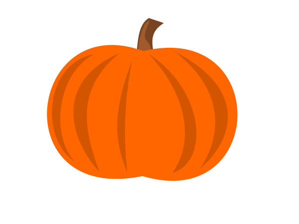 Pumpkins clipart of different sizes png free download Plain Pumpkin medium 600pixel clipart, vector clip art - ClipartsFree png free download