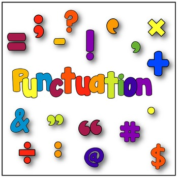 Puncuation clipart graphic freeuse library Primary Colours Alphabet, Number & Punctuation Clipart graphic freeuse library