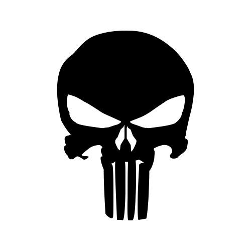 Punisher logo clipart free Decal Division - Product - The Punisher Logo Sticker ... free