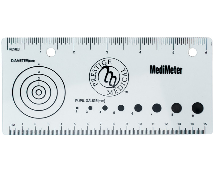 Pupil size graphic library library Medical Ruler: Pocket-Size, Clear Plastic – MySkillsPack.com graphic library library