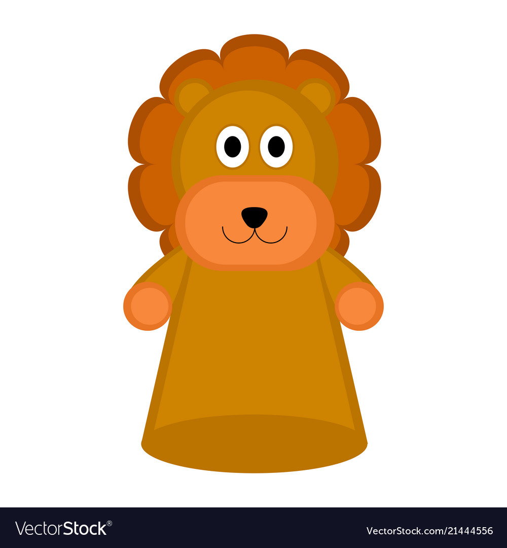 Puppet logo clipart png free download Isolated lion puppet toy icon vector image png free download
