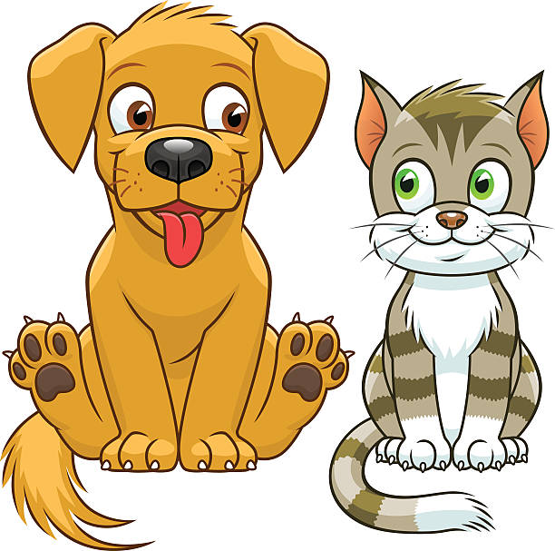 Puppy and 3 kitten on bed clipart vector library stock Collection of 14 free Kitten clipart dog aztec clipart ... vector library stock