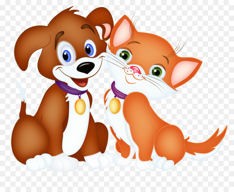 Puppy cat clipart clip art free library Cat And Dog Cartoon png download - 2167*1747 - Free ... clip art free library