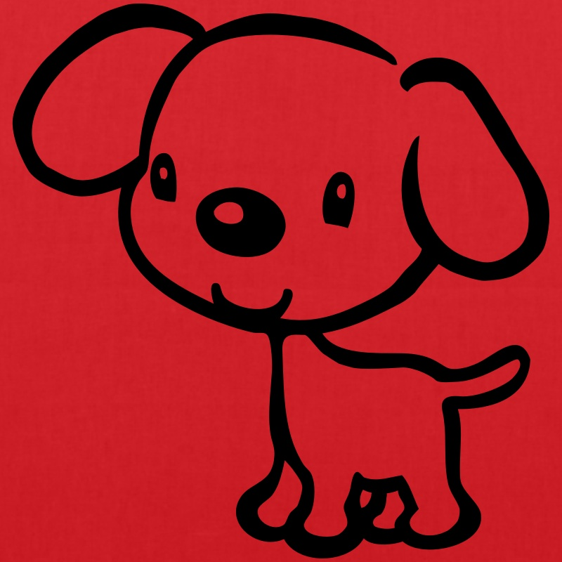 Puppy clipart 1 color clipart transparent Funny Puppy (it wasn't me) - 1 color Tote Bag | Spreadshirt clipart transparent