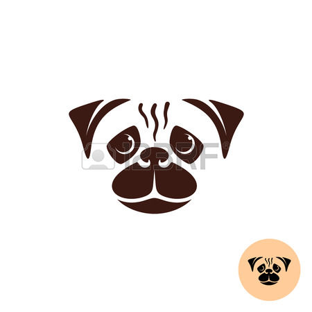 Puppy clipart 1 color clip art transparent stock 2,590 Pug Stock Vector Illustration And Royalty Free Pug Clipart clip art transparent stock