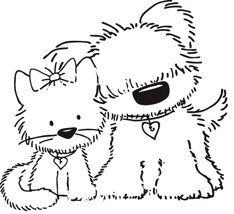 Puppy clipart 1 color clip black and white download dog color pages printable | Free Printable Puppy Coloring Pictures ... clip black and white download