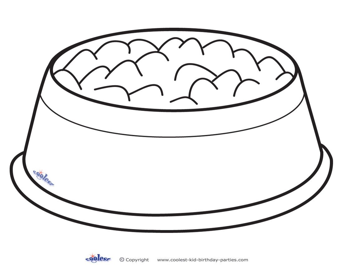 Puppy dog bowls clipart black and white jpg freeuse Printable Dog Bowl Decoration Coolest Free Printables ... jpg freeuse
