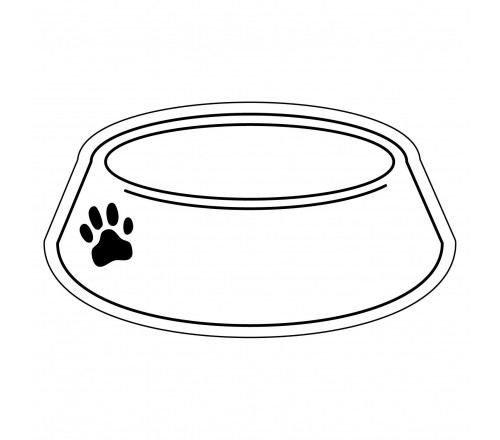 Library of puppy dog bowls clip library black and white ...