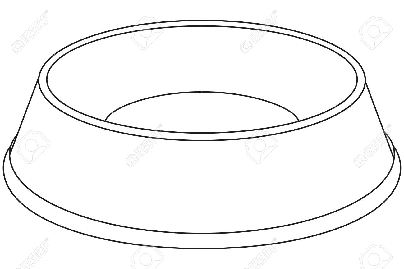 Puppy dog bowls clipart black and white image royalty free download Dog Bowl Sketch at PaintingValley.com | Explore collection ... image royalty free download