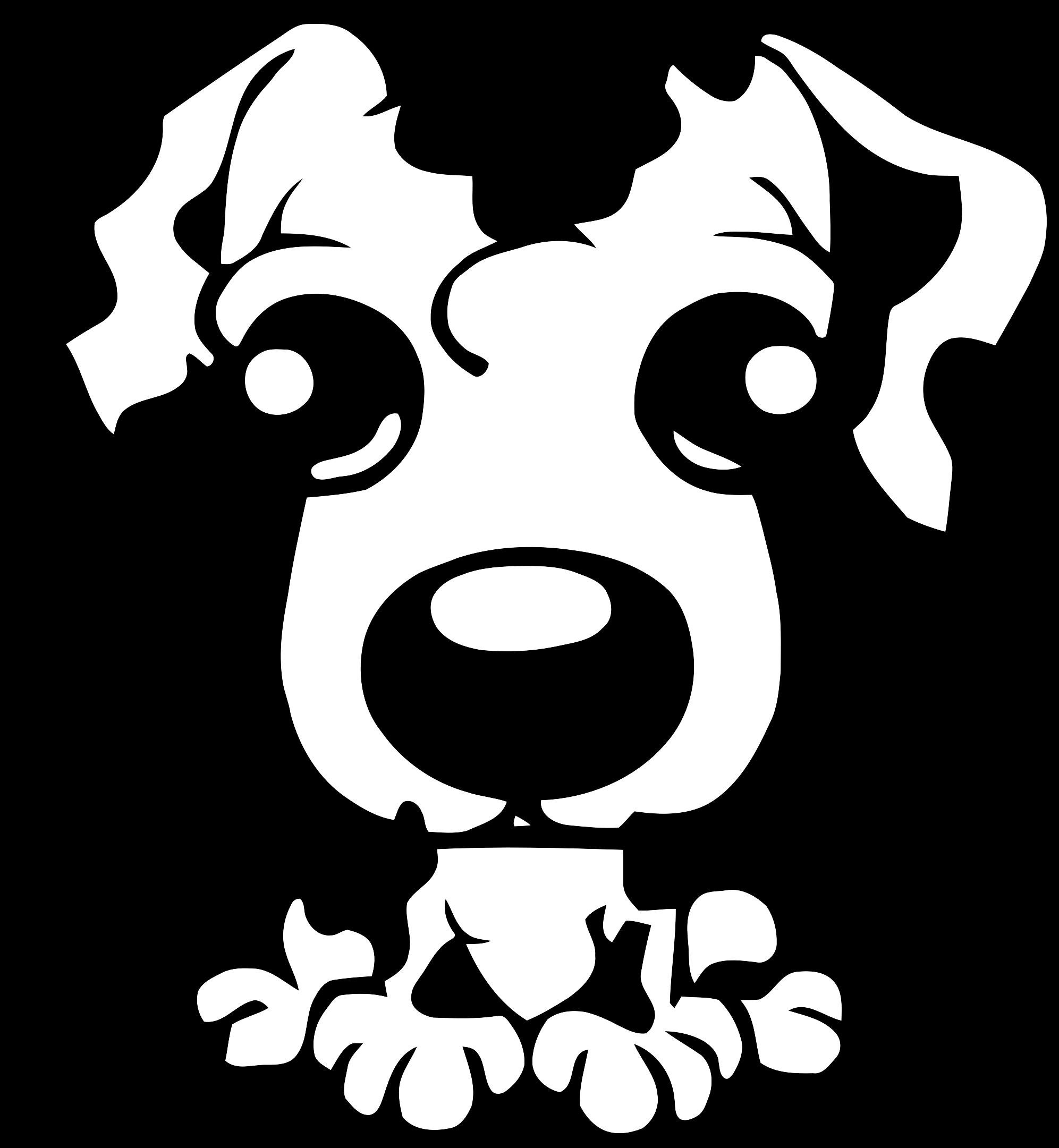 Puppy dog clipart black and white jpg black and white Clipart - Puppy Icon jpg black and white