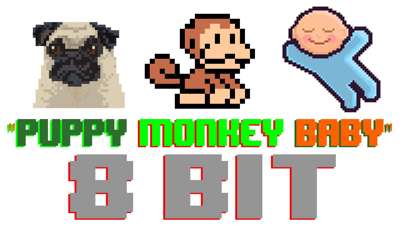 Puppy monkey baby clipart png freeuse library Puppy Monkey Baby (8 Bit Version) [Tribute to Mountain Dew Superbowl 50  Commercial] - 8 Bit Universe - YouTube png freeuse library