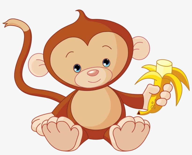 Monkey clipart png jpg black and white stock Baby Monkey Clip Art - Free Transparent PNG Download - PNGkey jpg black and white stock