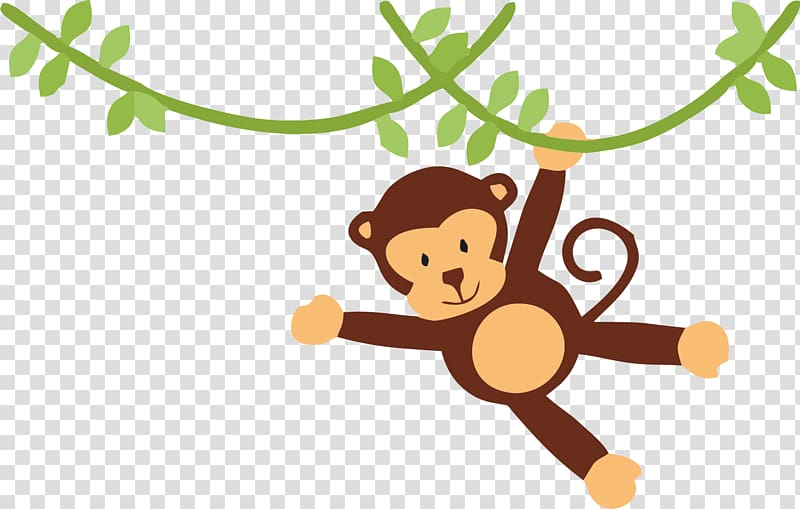 Puppy monkey baby clipart svg freeuse library Brown monkey , Puppy Child Party Cuteness , safari ... svg freeuse library