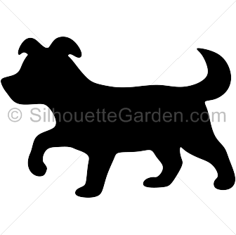 Puppy silhouette clipart banner download Puppy Silhouette banner download