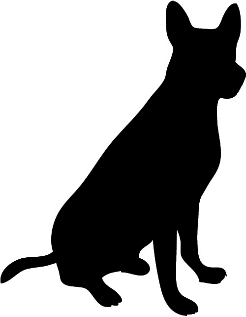 Puppy silhouette clipart clip black and white library Dog Silhouette clip black and white library