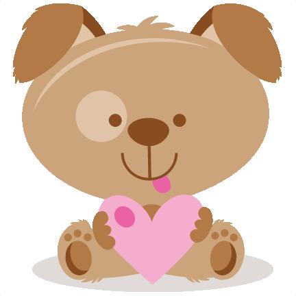 Valentine clipart puppy