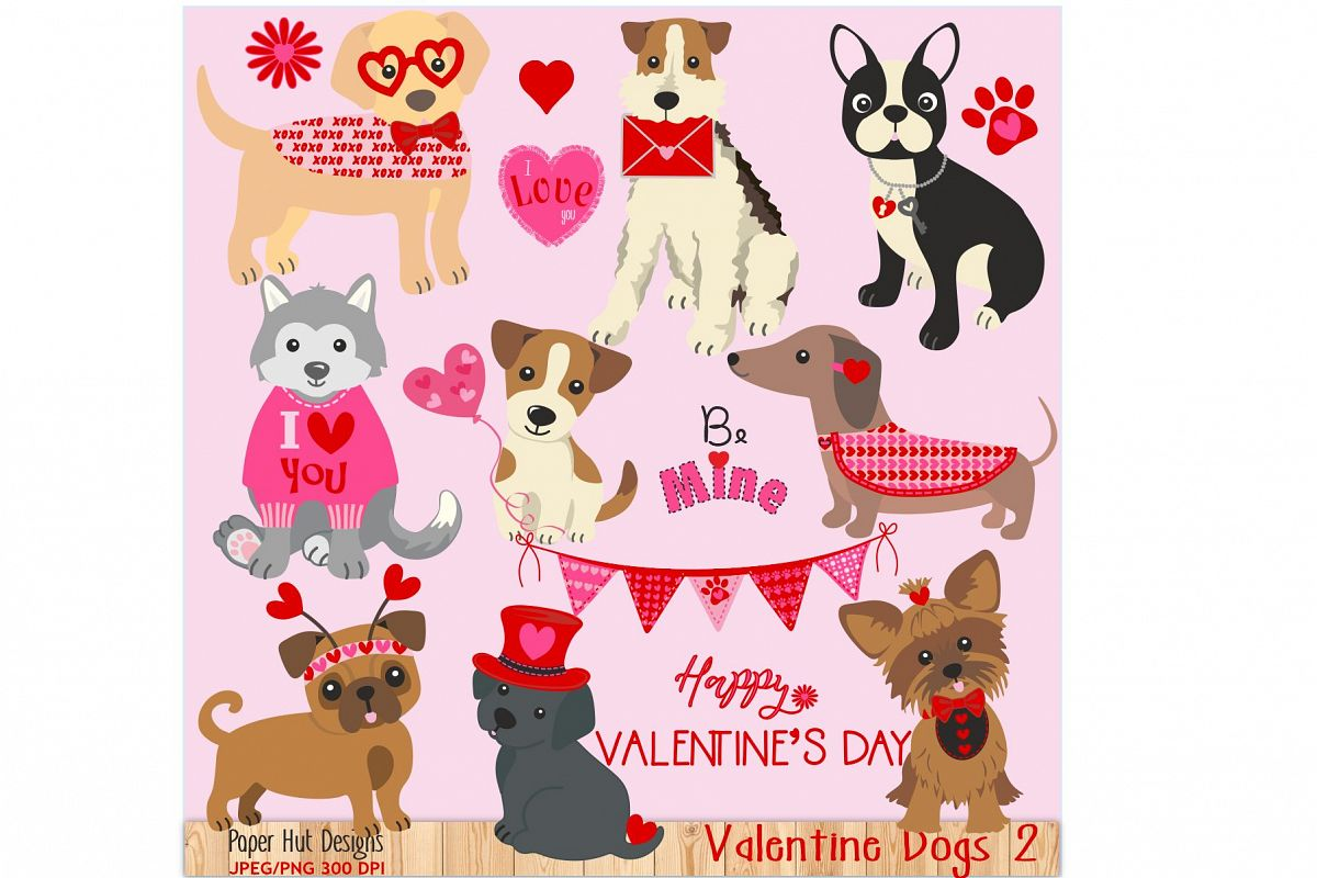 Valentine clipart puppy svg freeuse library Valentine Dog Clipart svg freeuse library