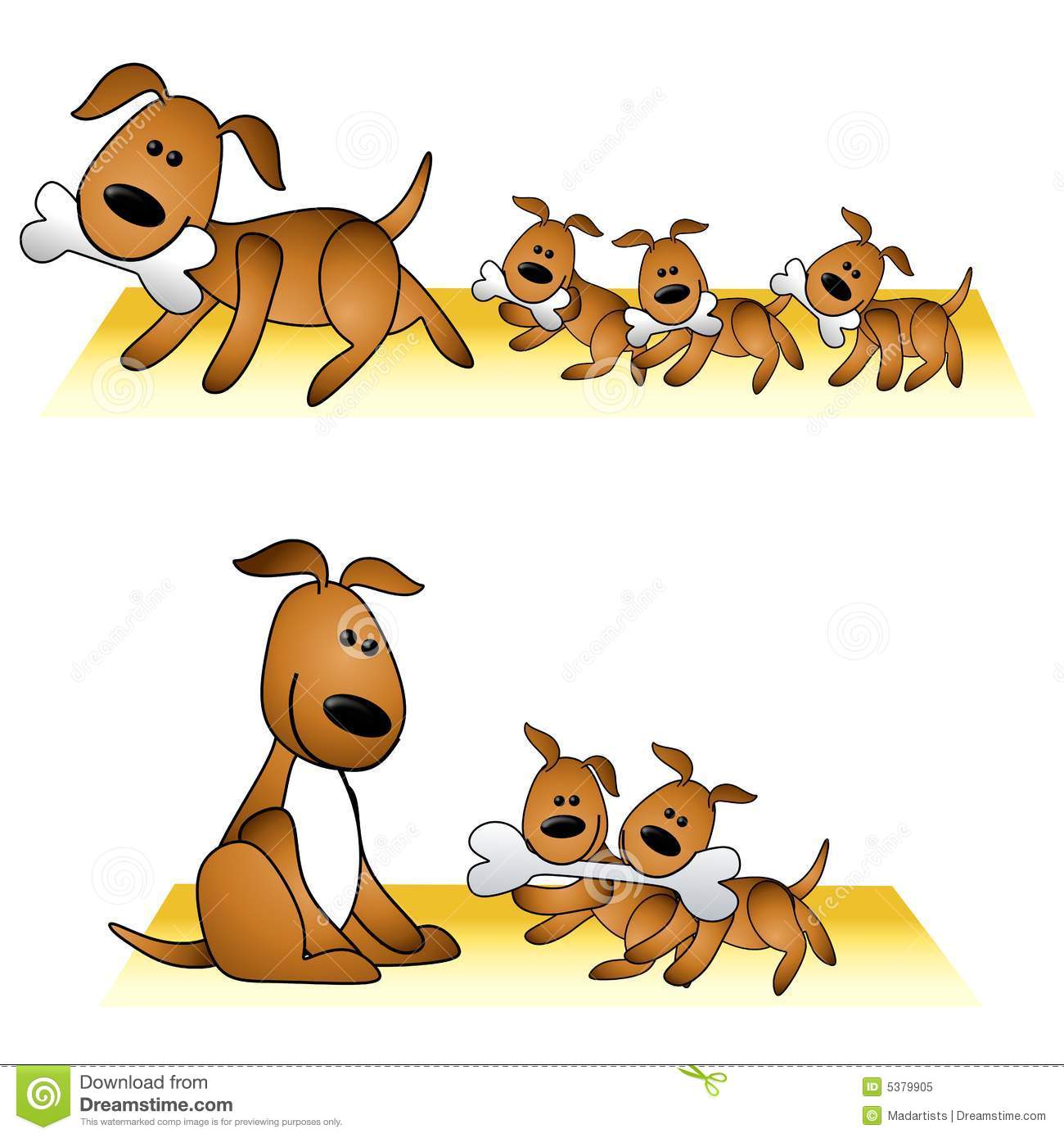 Puppy vs dog clipart clip transparent Mother Dog And Puppies Clipart - Clipart Kid clip transparent
