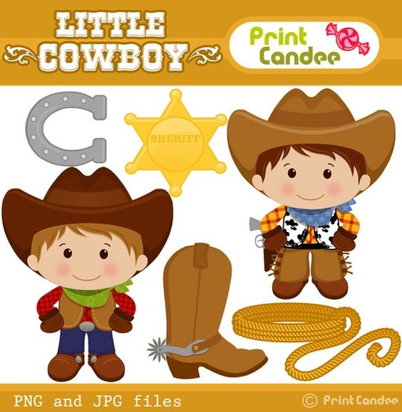 Purchase clipart for commercial use clip royalty free Little Cowboy - Digital Clip Art - Personal and Commercial Use ... clip royalty free
