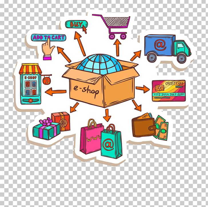 Purchase clipart online graphic E-commerce Online Shopping Business Process PNG, Clipart ... graphic