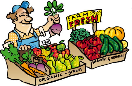 Purchase food in the market clipart image stock People purchase food in the market clipart - Clip Art Library image stock