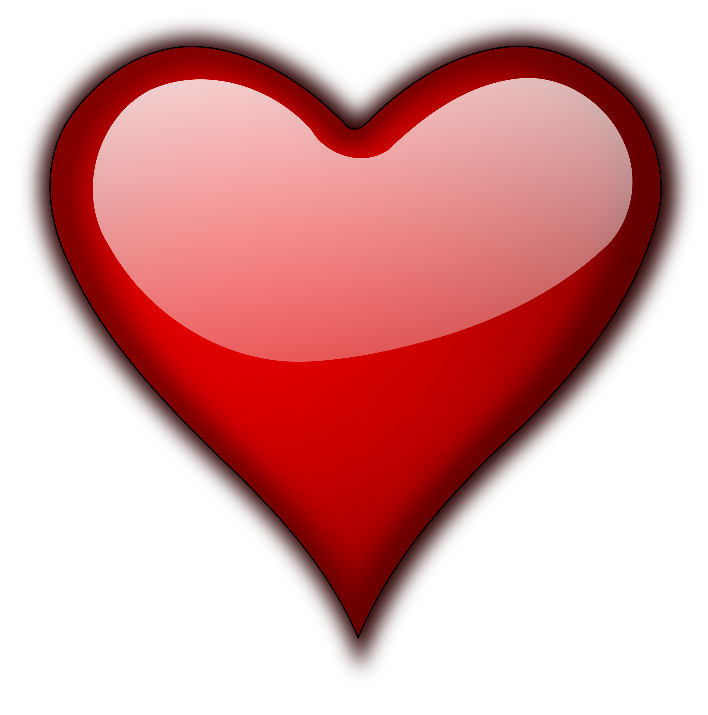 Pure heart clipart clip art free library Clipart - Heart Gloss 5 clip art free library