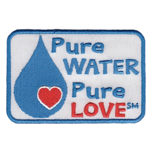 Pure water pure love clipart transparent download Pure Water, Pure Love Badge/Patch (PWPL) transparent download