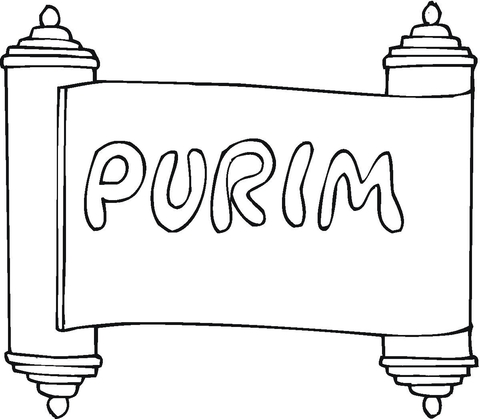 Purim clipart black and white picture black and white library Purim coloring page   Free Printable Coloring Pages picture black and white library
