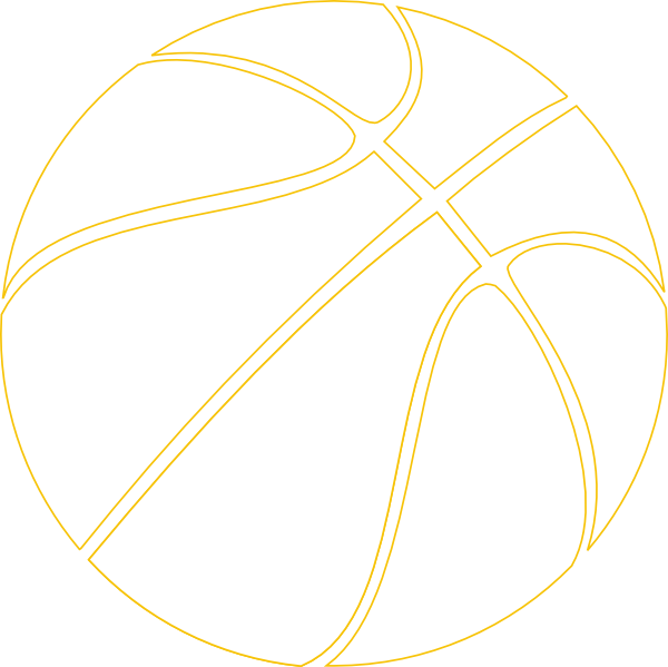 Purple and gold basketball clipart graphic free Gold Outline Basketball Clip Art at Clker.com - vector clip art ... graphic free