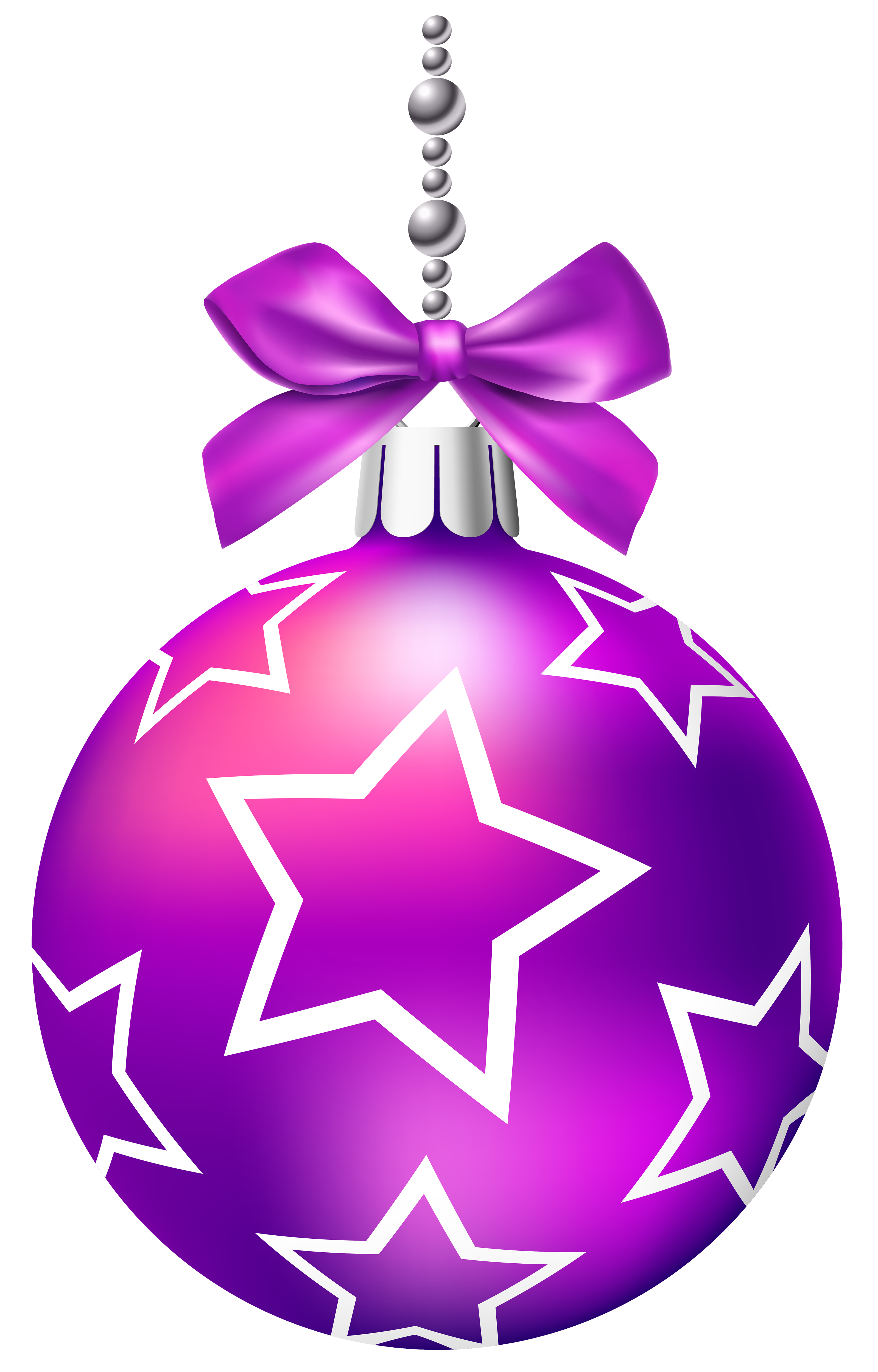 Pink christmas ornaments clipart picture black and white library Purple Christmas Balls PNG Clip Art - Best WEB Clipart picture black and white library