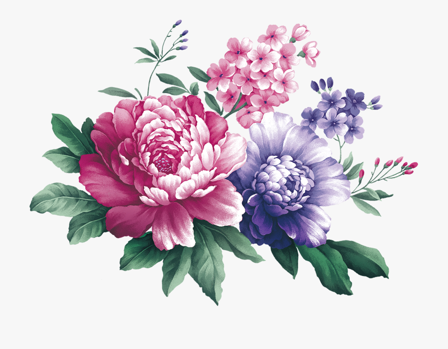 Purple and white carnations water painting clipart picture library library Bouquet Transparent Watercolor Peony - Watercolor Flower Svg ... picture library library