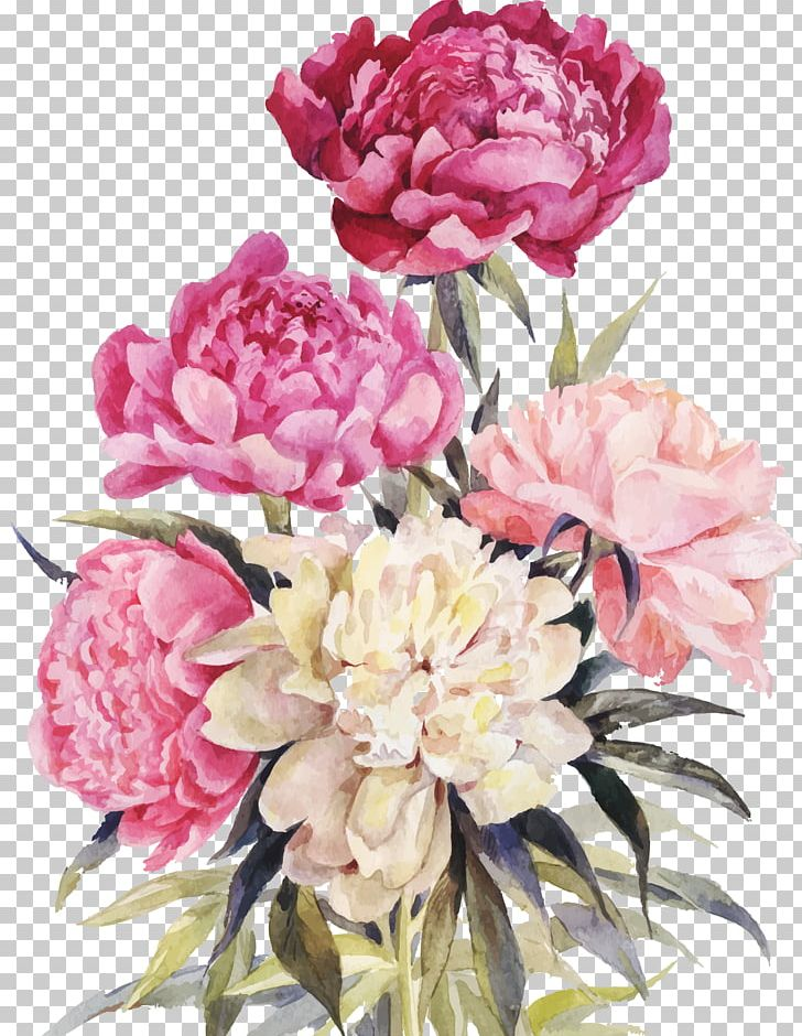 Purple and white carnations water painting clipart jpg library library Peony Drawing Watercolor Painting PNG, Clipart, Artificial ... jpg library library