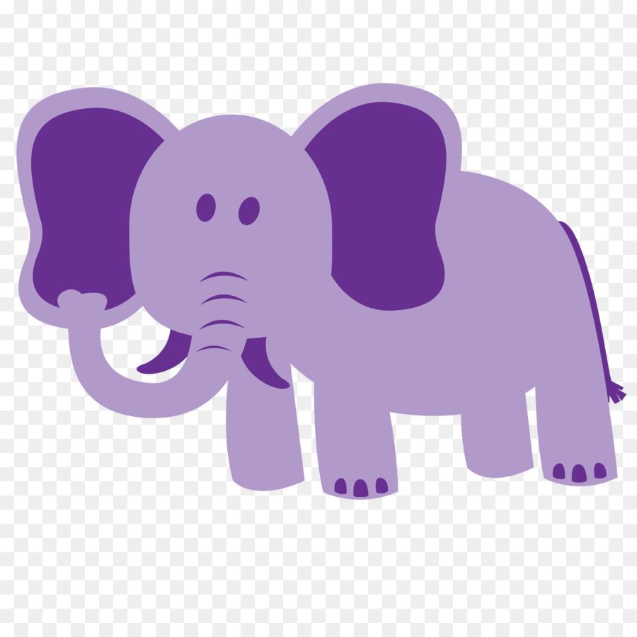 Purple baby elephant clipart