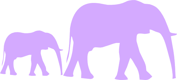 Purple baby elephant clipart banner black and white stock Elephant Royalty Free Stock Mom And Baby Clipart Purple ... banner black and white stock