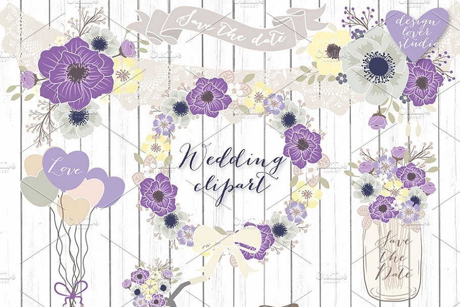 Purple bike with basket and flowers clipart png royalty free download Vector Bicycle wedding clipart png royalty free download