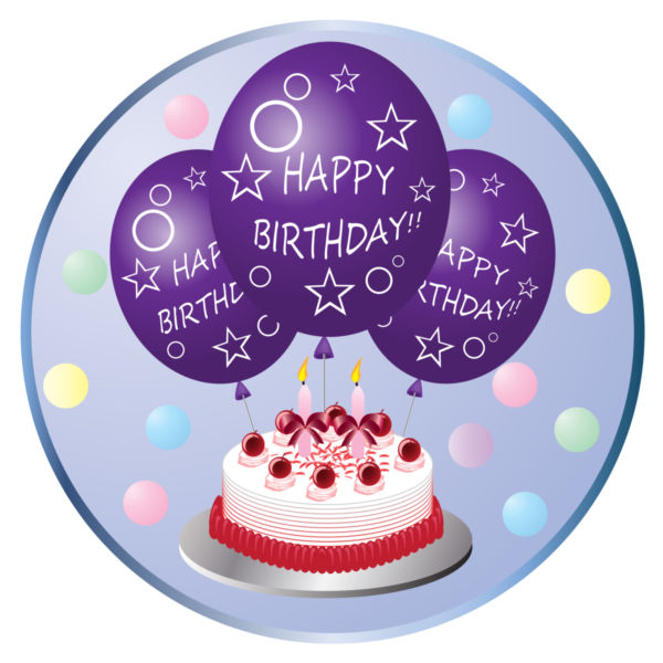 Purple birthday cake clipart clip Clip art of a birthday cake and balloons - stock photo free clip