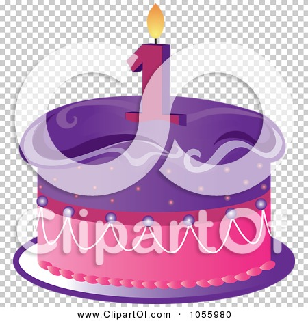 Purple birthday cake clipart image royalty free Royalty-Free Vector Clip Art Illustration of a Purple And Pink ... image royalty free