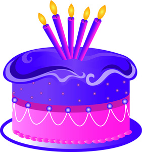 Purple birthday cake clipart picture royalty free download Purple birthday cake clipart - ClipartFest picture royalty free download