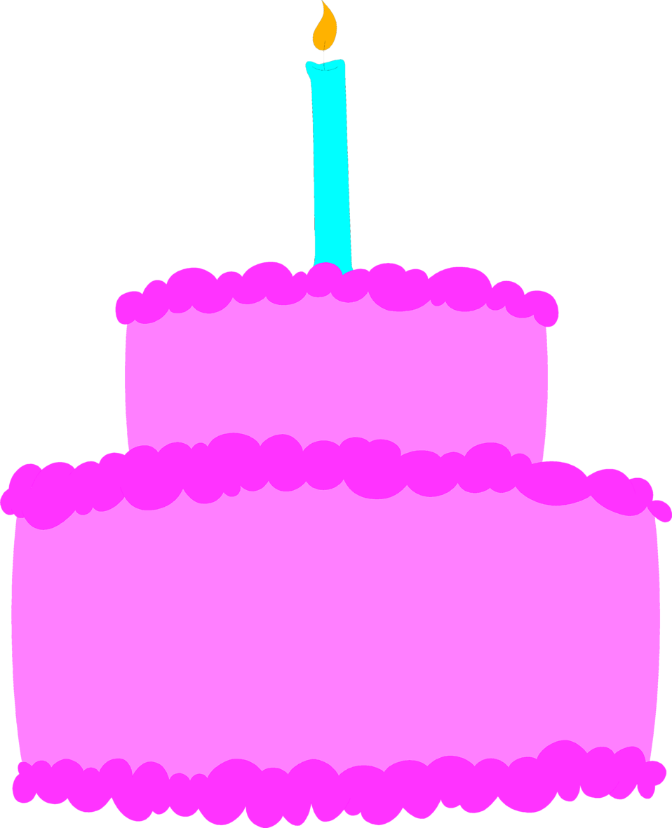 Purple birthday cake clipart clipart library Cake Birthday | Free Stock Photo | Illustration of a purple ... clipart library