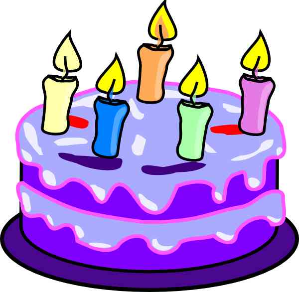 Purple birthday cake clipart clipart freeuse Purple cake clipart - ClipartFest clipart freeuse