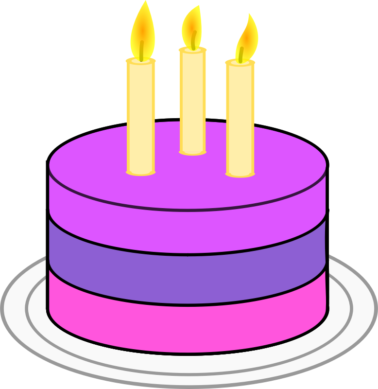 Purple birthday cake clipart jpg freeuse Purple cake clipart - ClipartFest jpg freeuse
