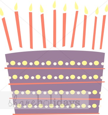 Purple birthday cake clipart image black and white download Purple Birthday Cake Clipart | Birthday Cake Clipart image black and white download