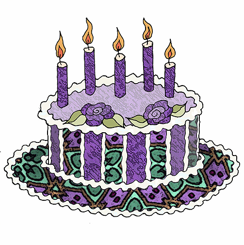 Purple birthday cake clipart svg freeuse download Purple birthday cake clipart - ClipartFest svg freeuse download