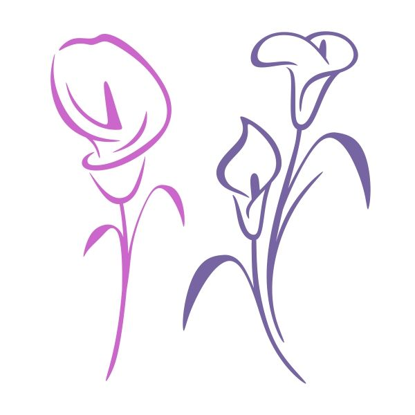 Purple calla lily clipart image freeuse library Pin by CuttableDesigns on Flowers and Nature | Art nouveau ... image freeuse library