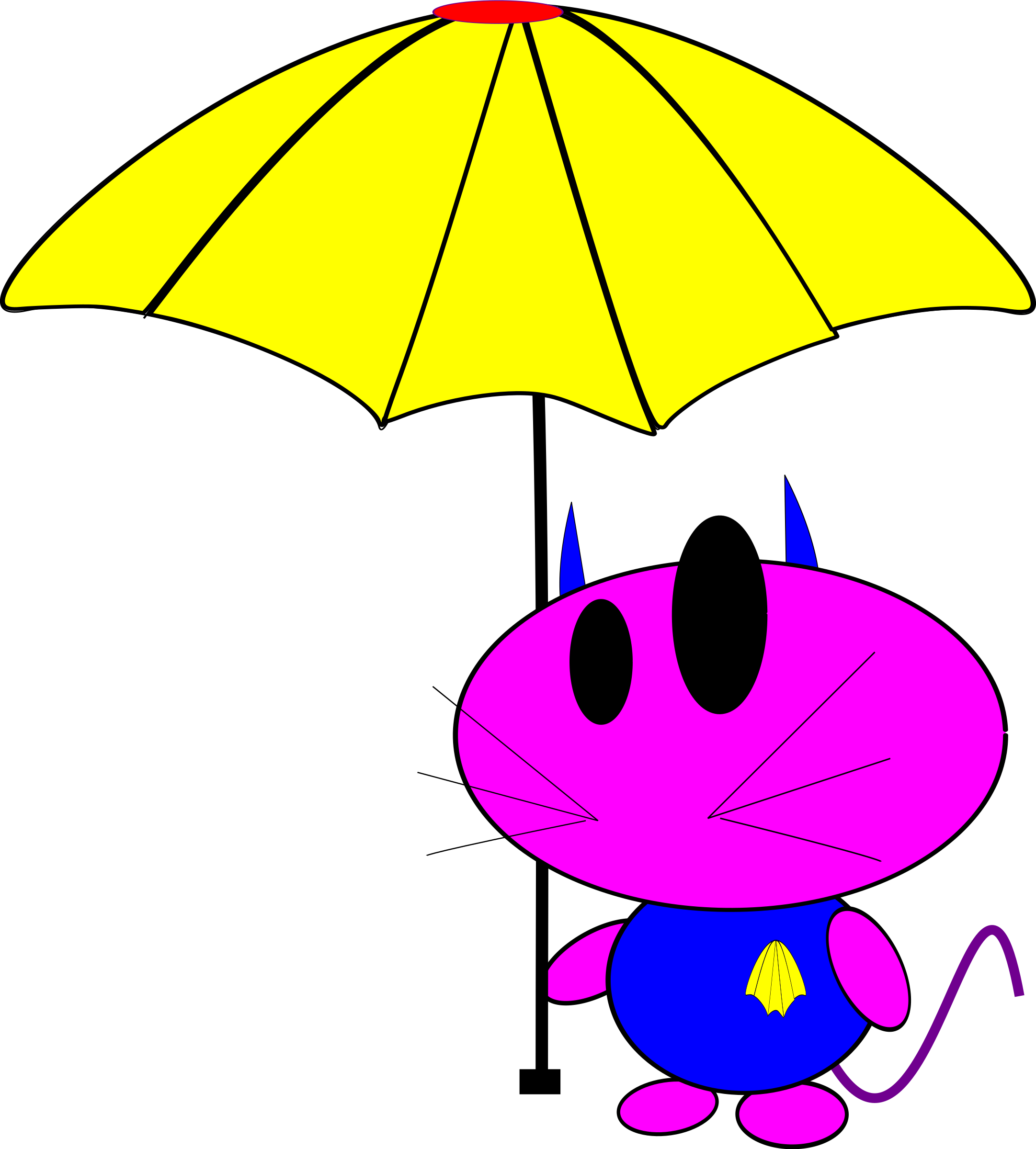 Purple cat clipart transparent download Clipart - cat bo with umbrella transparent download