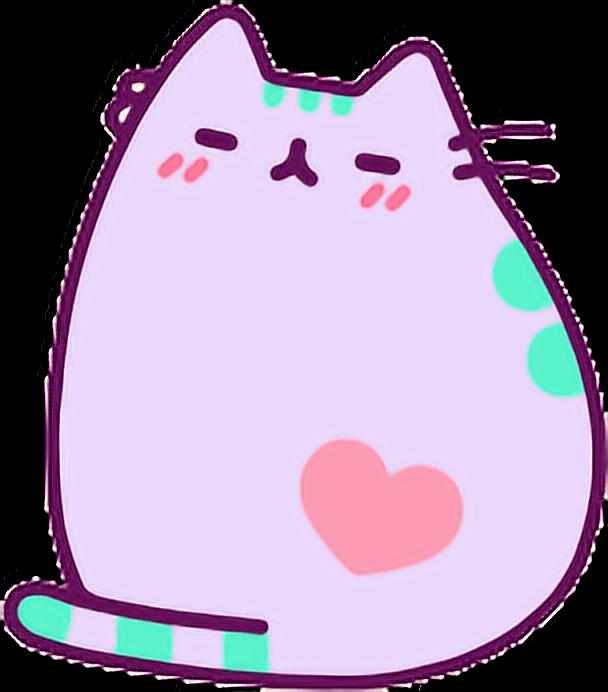 Purple cat clipart clip art Purple Pusheen Cat Kawaii Adorable lilac freetoedit... clip art
