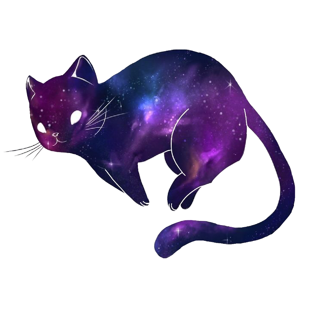 Purple cat clipart cute banner royalty free library cat kawaii galaxy cute spacefreetoedit... banner royalty free library