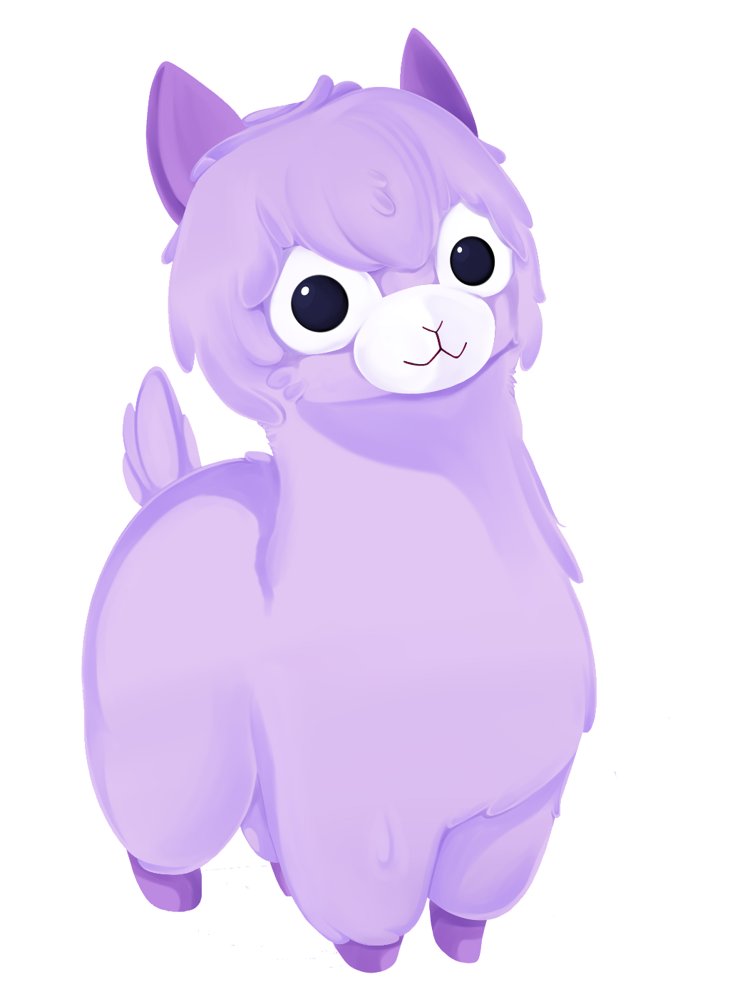 Purple cat clipart cute vector royalty free download llama alpaca purple cute kawaii adorbs love kandy fanta... vector royalty free download