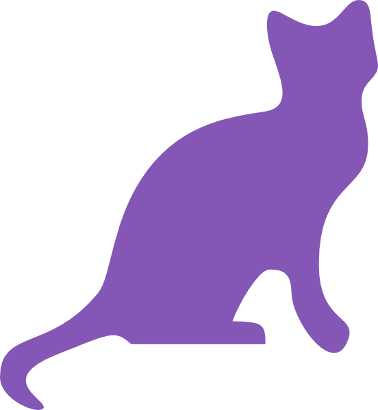 Purple cat clipart cute png library Purple Cat Clip Art at Clker.com - vector clip art online, royalty ... png library